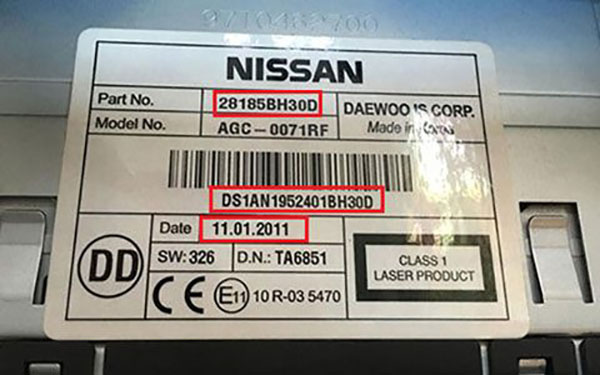 Nissan Navara Radio Code
